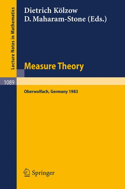 Cover of 'Measure Theory Oberwolfach 1983'