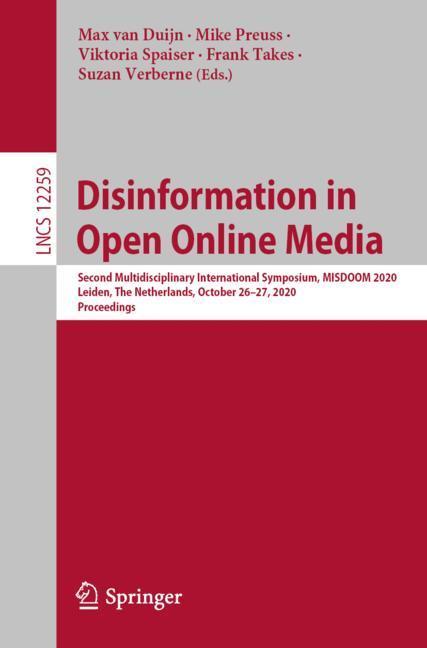 Cover of 'Disinformation in Open Online Media'