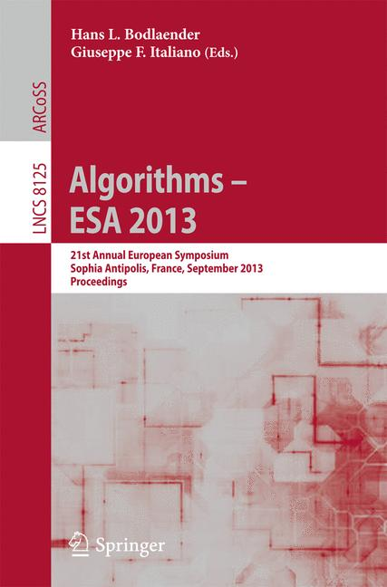 Cover of 'Algorithms – ESA 2013'