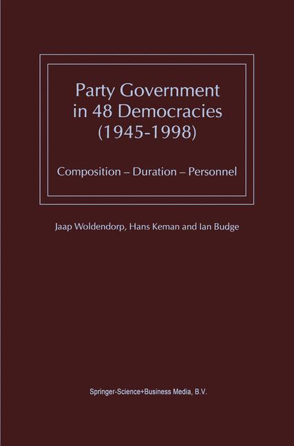 Cover of 'Party Government in 48 Democracies (1945–1998)'