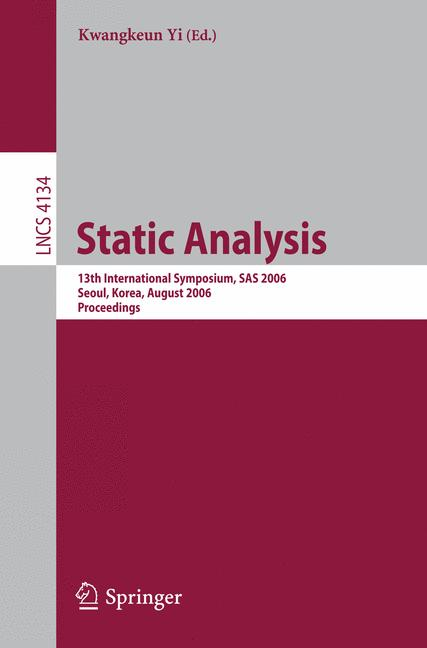 Cover of 'Static Analysis'