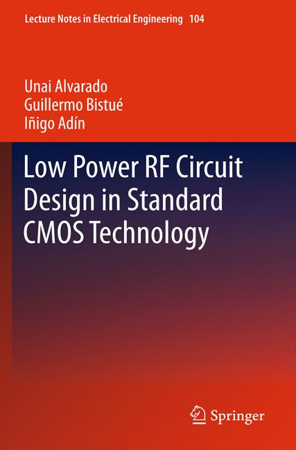 Cover of 'Low Power RF Circuit Design in Standard CMOS Technology'