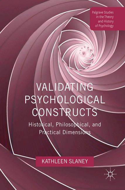 Cover of 'Validating Psychological Constructs'