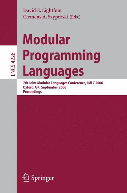 Cover of 'Modular Programming Languages'