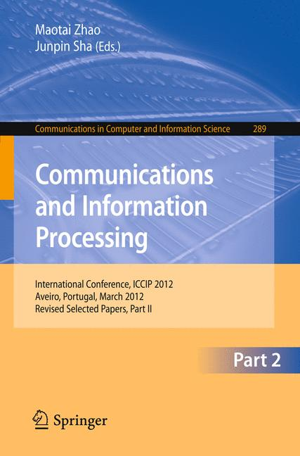 Cover of 'Communications and Information Processing'
