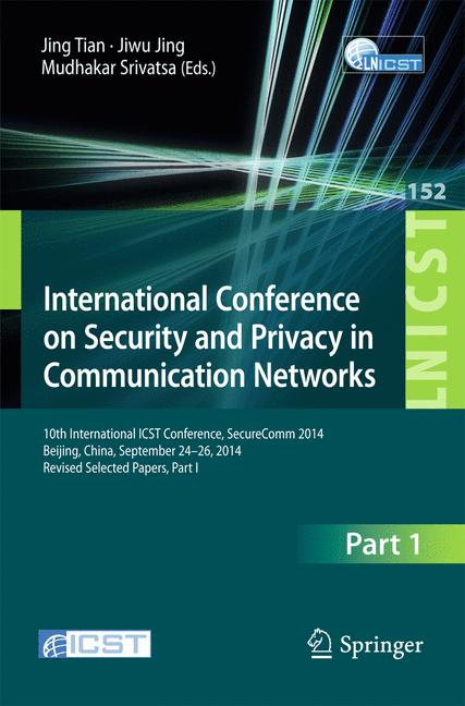 Cover of 'International Conference on Security and Privacy in Communication Networks'