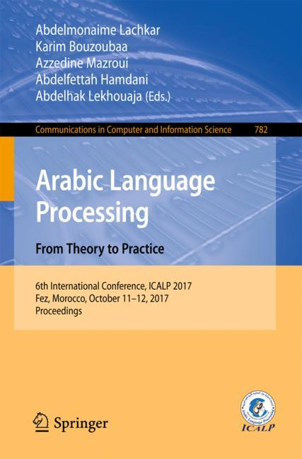 Cover of 'Arabic Language Processing: From Theory to Practice'