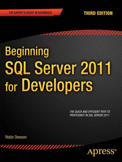 Cover of 'Beginning SQL Server 2012 for developers'