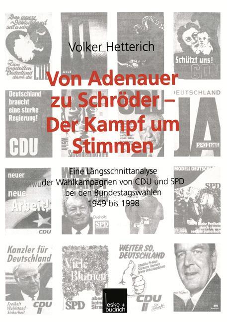 Cover of 'Von Adenauer zu Schröder — Der Kampf um Stimmen'