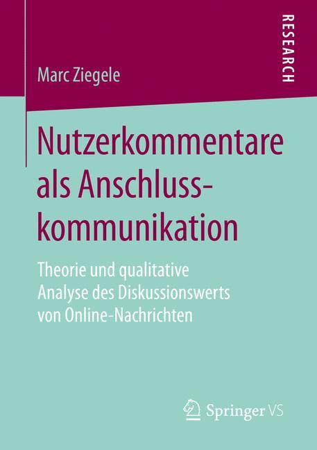 Cover of 'Nutzerkommentare als Anschlusskommunikation'