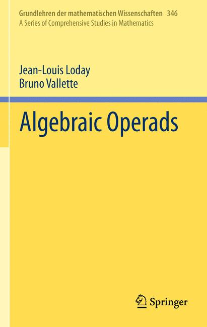 Cover of 'Algebraic Operads'