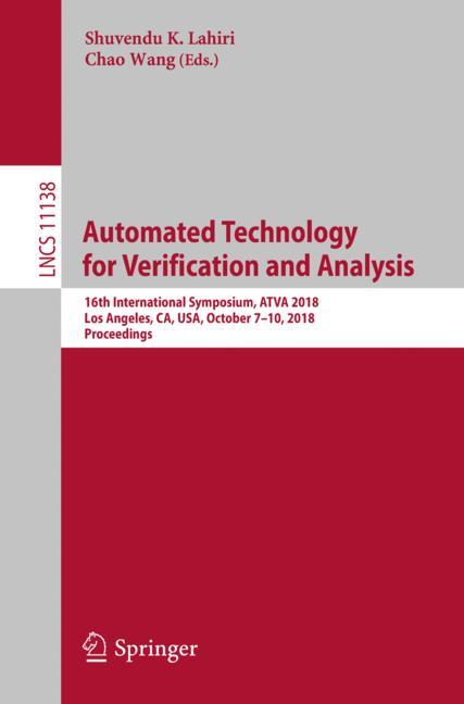 Cover of 'Automated Technology for Verification and Analysis'