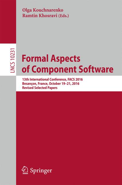 Cover of 'Formal Aspects of Component Software'