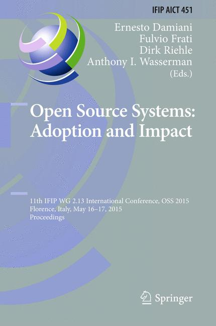 Cover of 'Open Source Systems: Adoption and Impact'