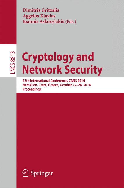 Cover of 'Cryptology and Network Security'