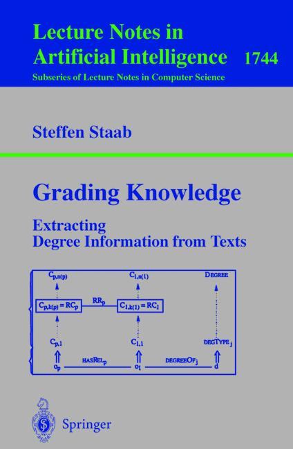 Cover of 'Grading knowledge : extracting degree information from texts'