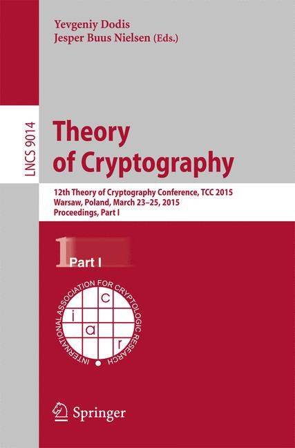 Cover of 'Theory of Cryptography'