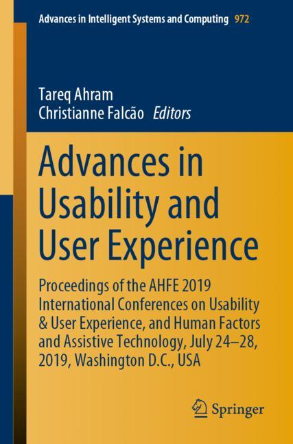 Cover of 'Advances in Usability and User Experience'