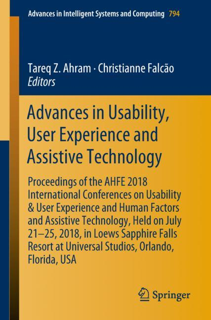 Cover of 'Advances in Usability, User Experience and Assistive Technology'