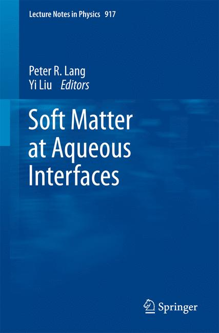 Cover of 'Soft Matter at Aqueous Interfaces'