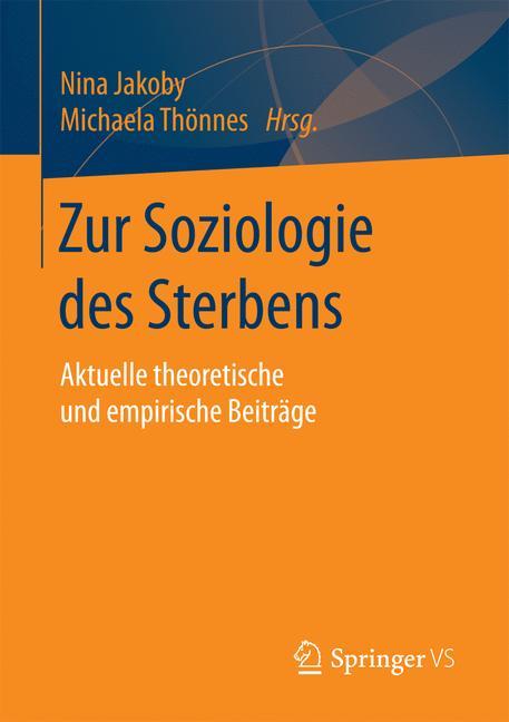 Cover of 'Zur Soziologie des Sterbens'