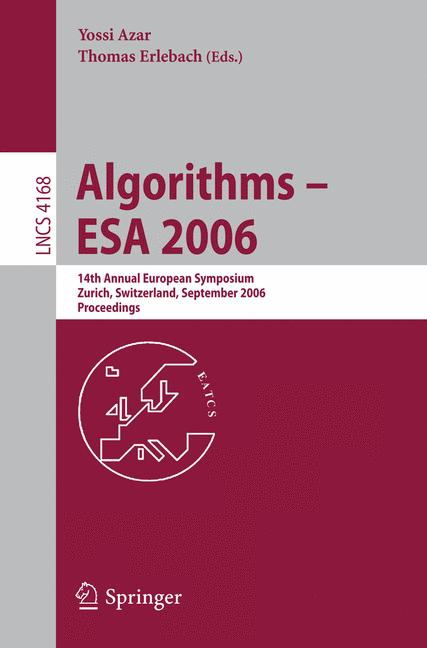 Cover of 'Algorithms – ESA 2006'
