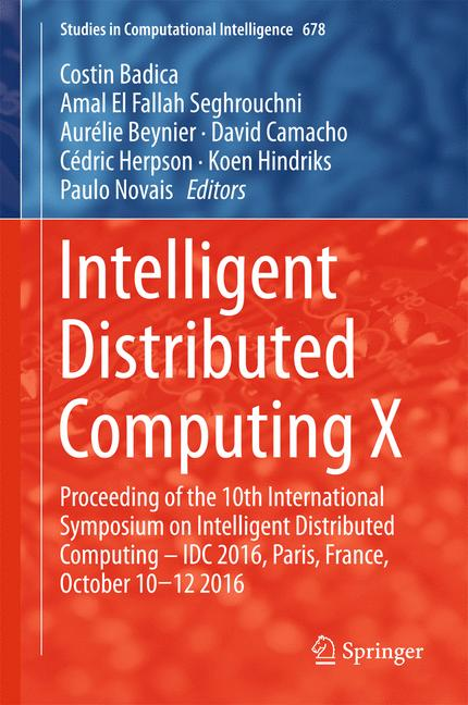Cover of 'Intelligent Distributed Computing X'