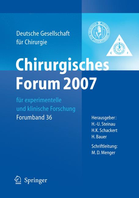 Cover of 'Chirurgisches Forum 2007'