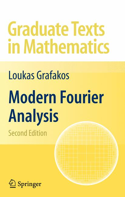 Cover of 'Modern Fourier analysis'