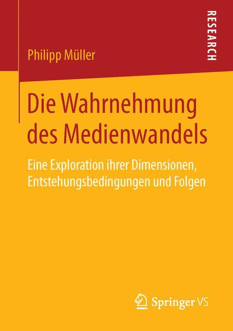 Cover of 'Die Wahrnehmung des Medienwandels'
