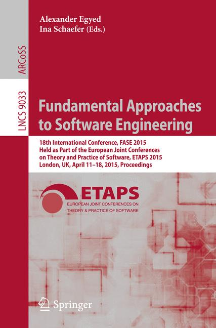 Cover of 'Fundamental Approaches to Software Engineering'