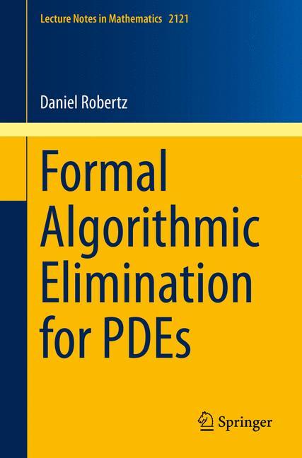 Cover of 'Formal Algorithmic Elimination for PDEs'