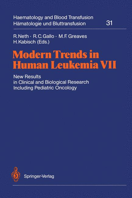 Cover of 'Modern Trends in Human Leukemia VII'