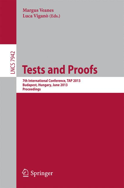 Cover of 'Tests and Proofs'