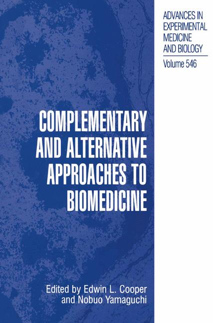 Cover of 'Complementary and Alternative Approaches to Biomedicine'