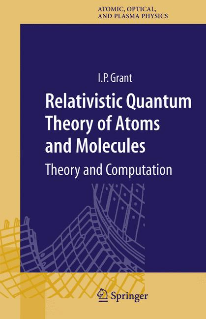 Cover of 'Relativistic Quantum Theory of Atoms and Molecules'