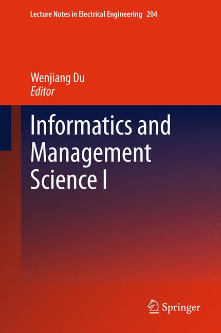 Cover of 'Informatics and Management Science I'