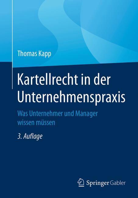 Cover of 'Kartellrecht in der Unternehmenspraxis'