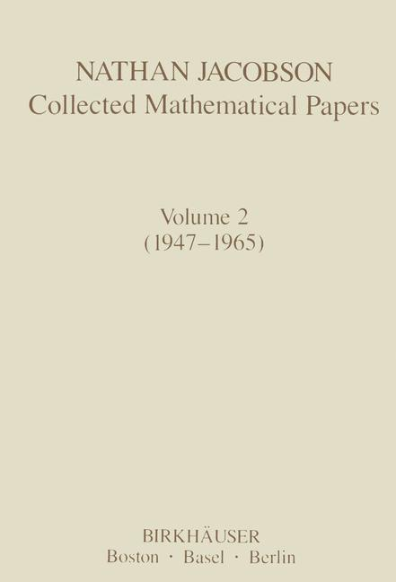 Cover of 'Nathan Jacobson Collected Mathematical Papers'