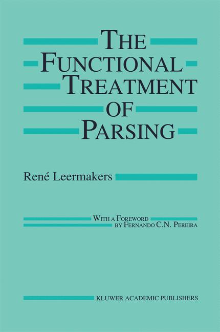 Cover of 'The Functional Treatment of Parsing'