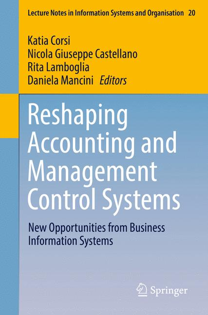 Cover of 'Reshaping Accounting and Management Control Systems'