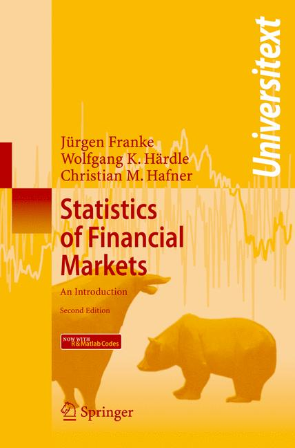 Cover of 'Statistics of Financial Markets : An Introduction'