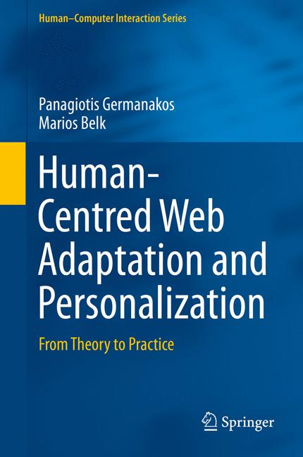 Cover of 'Human-Centred Web Adaptation and Personalization'