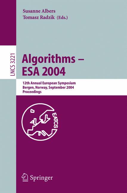 Cover of 'Algorithms – ESA 2004'