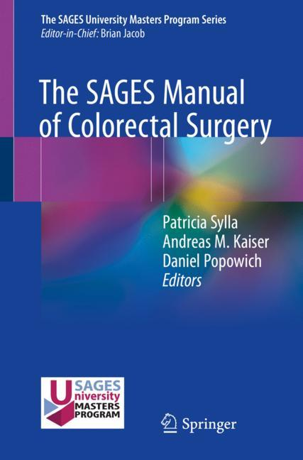 Cover of 'The SAGES Manual of Colorectal Surgery'