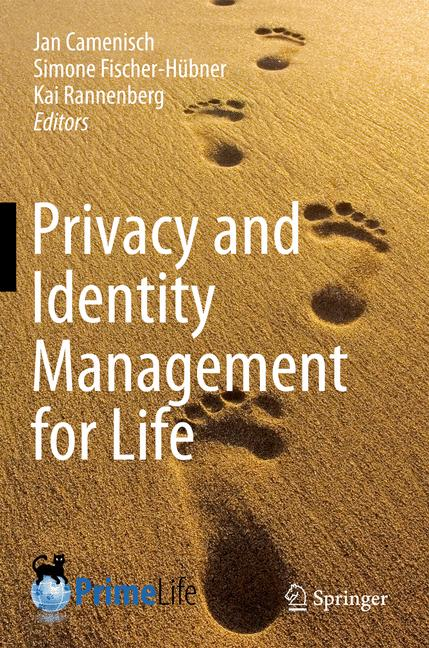 Cover of 'Privacy and Identity Management for Life'