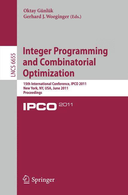 Cover of 'Integer Programming and Combinatoral Optimization'