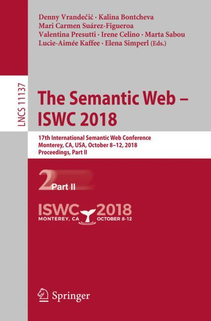 Cover of 'The Semantic Web – ISWC 2018'