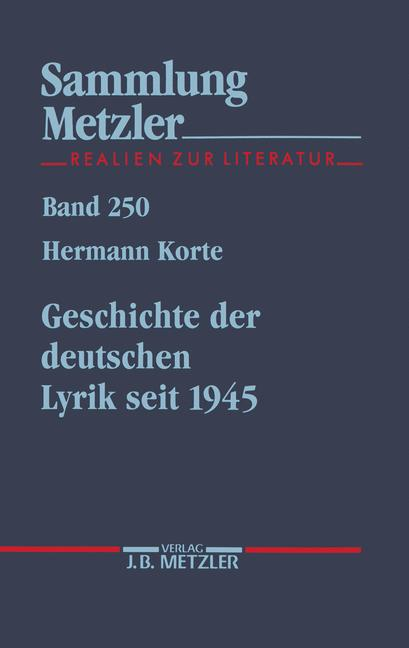 Cover of 'Geschichte der deutschen Lyrik seit 1945'