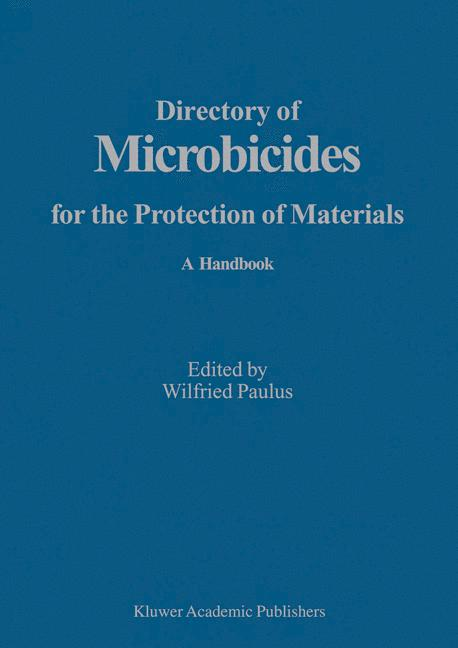 Cover of 'Directory of Microbicides for the Protection of Materials'
